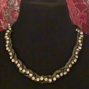J crew rhinestone necklace choker